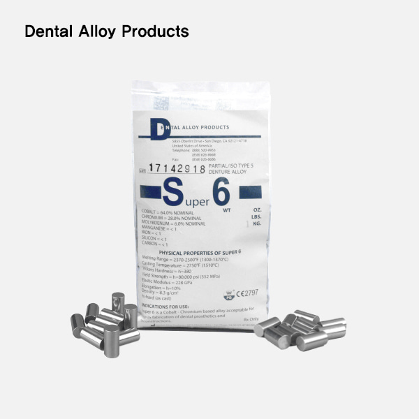 Super 6 (슈퍼 6)Dental Alloy Products (덴탈알로이)